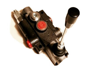 Hydraulic Monoblock 1 Bank 40 L/Min Lever Control Spool Valve Single Acting