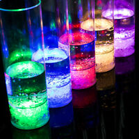 7 Color LED Flash Light Whisky Shot Drink Glass Cup Beer Bar Party Wedding Club#