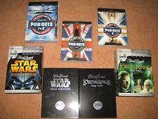 DVD Quizs - Pub Quiz 1 & 2 + Star Wars Saga + Lord of the Rings Trivial Pursuit