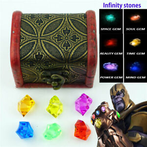 Infinity stones Set Of All 6 Gems Toy Cosplay Props Gift N5
