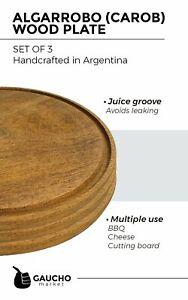 Algarrobo (Carob) Wood Plates.  Handmade in Argentina. Rustic and Classy Pieces.