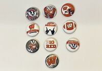 """1"""" University Of Wisconsin Badgers Pinback Button Jump Around Bucky One Inch"""