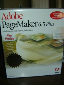 Adobe PageMaker 6.5 PLUS for Windows SEALED  Education Version  CD