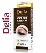 DELIA HENNA CREAM Eyebrow Professional Colour Tint Kit Set Dark Brown 15ml