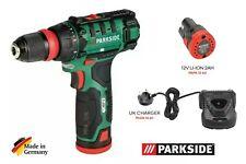 Parkside 12v Trapano senza fili + Cacciavite PBSA 12 D2 Con Batteria & caricabatteria 2020