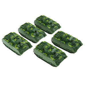 Sand Table   Armor Scene Building - 5x Army Green Tank Model Toy Gift