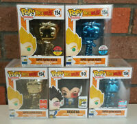 Funko Pop! Dragon Ball Z - Super Saiyan Vegeta SDCC NYCC Toy Tokyo - Rare Lot