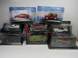 KAS4 LOT de 8 voitures FRANÇAISES 1/43 Collection cassés broken models rotos