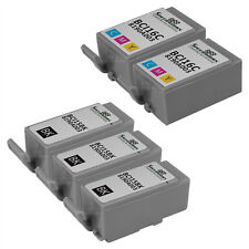 Compatible 5 pack Canon (3) BCI-15 Black (2) BCI-16 color Ink Cartridges
