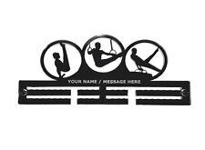 Personalised, Mens, Gymnastics - Acrylic, Medal Holder, Hanger, Display