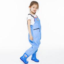 Kids Chlidren Chest Waders PVC Waterproof Pants Waders Ourdoor Fishing Wear Cute