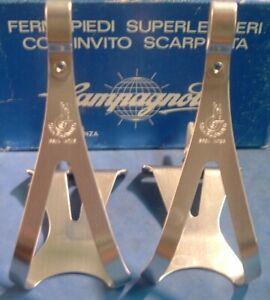 Campagnolo Superleggeri Medium Alloy Road / MTB Toe Clips NEW / NOS Vintage- NIB