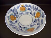 Desuir Large Ceramic Pottery Bowl Made In Italy Hand Painted