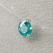 18k white gold gp made with SWAROVSKI ZIRCONIA mint necklace Solitaire Pendant