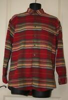ORVIS Men's Heavy Long Sleeve Button Up Shirt Striped Check 100% Cotton Size M