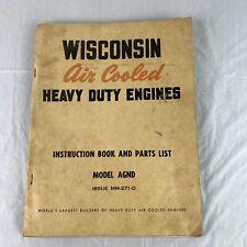 Wisconsin Air Cooled Engine Acn Bkn Instruction Parts List Mm 271 D