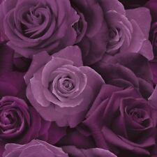 AUSTIN ROSE FLORAL WALLPAPER PHOTOGRAPHIC STYLE - ARTHOUSE 675601 PURPLE