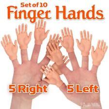 Set Of Ten Finger Hands Finger Puppets Joke  Small Funny  Gift Trump