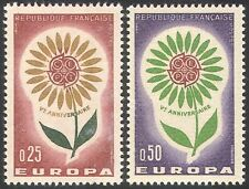 France 1964 Europa/CEPT 5th Anniversary/Flower/Plants/Animation 2v set (n41909)