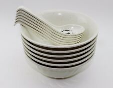 Set of 6~ Quality Japanese Noodle Soup Bowls w/ Spoons. Great gift. USA Seller