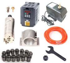 CNC 2.2KW Spindle Motor + Frequency inverter VFD + Mount + ER20 Collet + pump