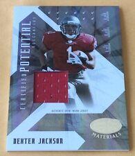 2008 Donruss/Playoff Football Dexter Jackson Jersey Patch Card 006/250