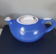 Vintage Devonmoor Potteries Blueware Art Deco Souvenir Teapot Ilfracombe