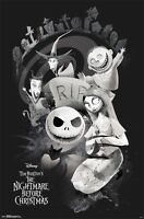 NIGHTMARE BEFORE CHRISTMAS - RIP CHARACTER COLLAGE POSTER - 22x34 MOVIE 15488