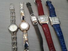 5 pc  ladies watch lot, sterling silver, great working pre owned condition,