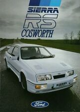 Ford Sierra RS Cosworth - 8 page fold out sales brochure - January 1986.