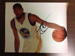 KEVIN DURANT GOLDEN STATE WARRIORS AUTOGRAPHED SIGNED 8x10 PHOTO KD DUB NATION