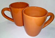 """Corsica Homes Cups Mugs Clementine Orange 4.5"""" 14 oz Lot Of 2 Tabletops Gallery"""