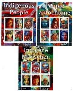 3 hojitas sellos Indigenous People Pueblos indigenas 2009 Onu Naciones Unidas