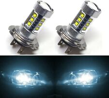 LED 80W H7 White 6000K Two Bulbs Head Light High Beam Replace Lamp Show Use