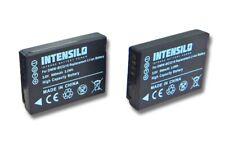 2x INTENSILO Premium AKKU 890mAh für PANASONIC Lumix DMW-BCG10 / DMW-BCG10E