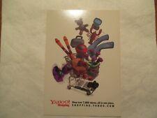 Yahoo Shopping  Advertising Continental Postcard