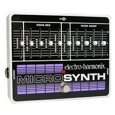 Electro-Harmonix MicroSynth Guitar Effects Micro Synthesizer Pedal +Picks