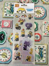 Dispicable Me 2 Minion Sticker Sheet New