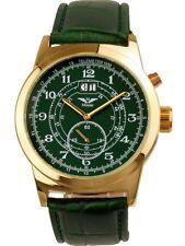 Minoir Uhren Modell Baugy gold/grün mit Herrenuhr Automatikuhr Ø 47 mm