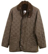 Barbour Polarquilt Green Quilted Insulated Lightweight Flannel Lined Jacket M