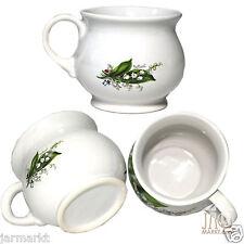 Gobelet 4 Set - Coupes en céramique - thé et tasse café avec LILY of the VALLEY