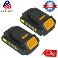 2 Pack For DeWalt 20V 20 Volt Max XR Lithium Ion Battery DCB201 DCB203 DCB205 US