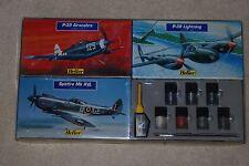 1/72 HELLER P-38L, P-39, SPITFIRE Mk XVI Collection Kit #80273, 80271, 80282