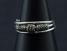 Bague de pied -bijoux d' orteil ethnika Ibiza ajustable en metal blanc  W90 8049