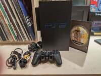 SONY Playstation 2 w/ Network Adaptor Dualshock 2 8MB GTA SAN ANDREAS TESTED