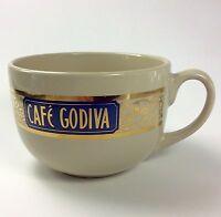 CAFE GODIVA Coffee Mug Oversize Soup Gold California Pantry Ceramics 2004