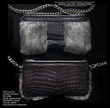 Romanov Blueberry Mink fur handbag Luxury purse bag clutch / Arctic-store