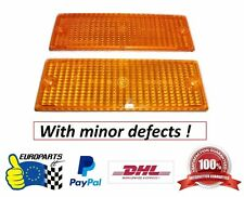 BMW E30 Orange Turn Signal Lens Set with defects (Not M3 Compatible) 63131386011