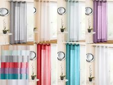 MARRAKESH GLITTER SPARKLE VOILE NET CURTAIN EYELET RING TOP IN 7 Colours
