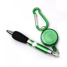 Green Golf Scoring Ball Pen with Retractable Clip on Key-ring or Belt